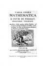 Титульный лист сочинений П. Ферма